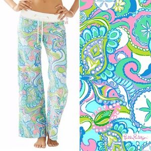 Lilly Pulitzer Linen Beach Pants In Conch Republic